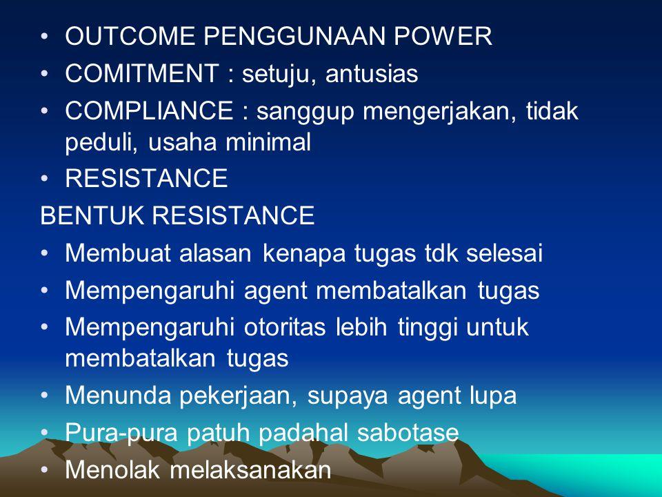 OUTCOME PENGGUNAAN POWER
