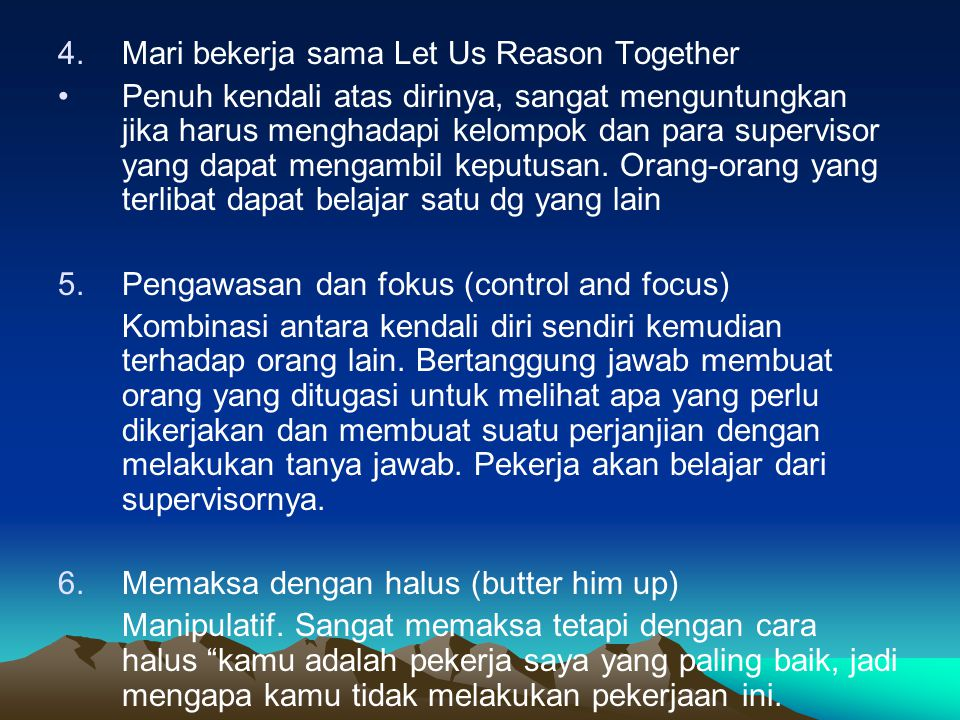 Mari bekerja sama Let Us Reason Together