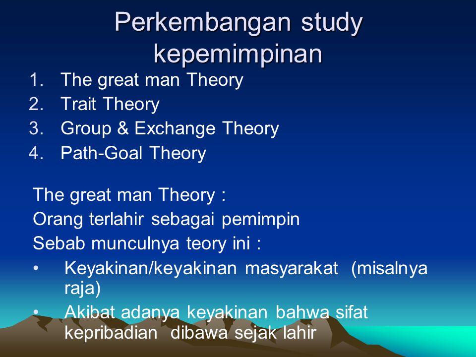 Perkembangan study kepemimpinan