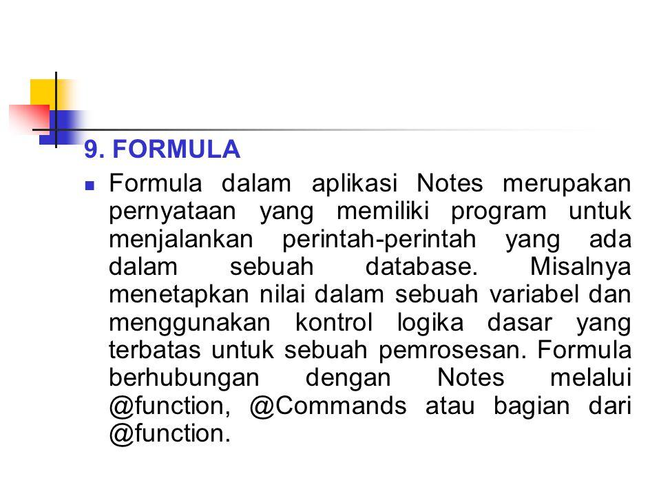 9. FORMULA