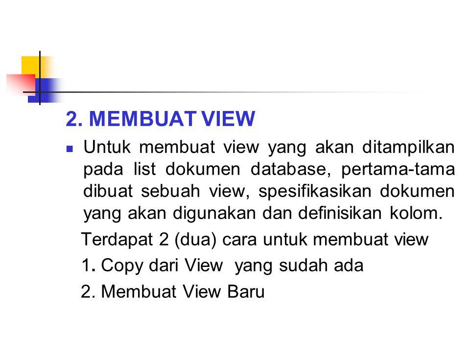 2. MEMBUAT VIEW