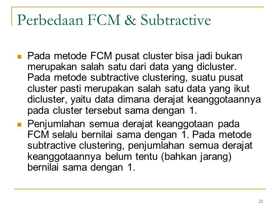 Perbedaan FCM & Subtractive
