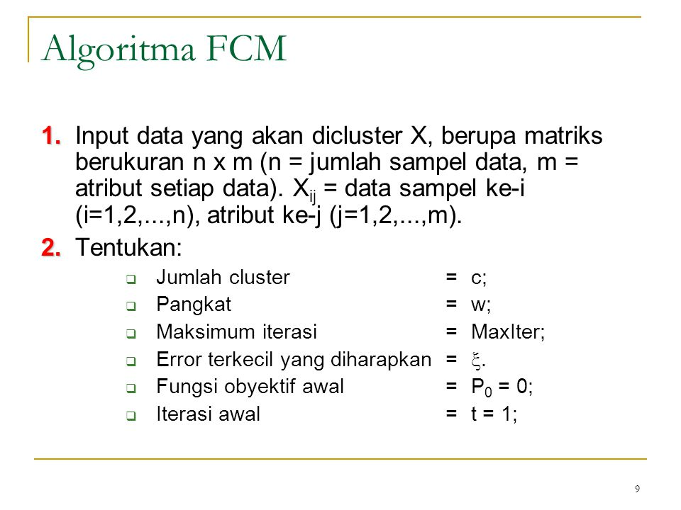 Algoritma FCM
