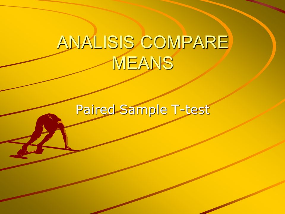 ANALISIS COMPARE MEANS