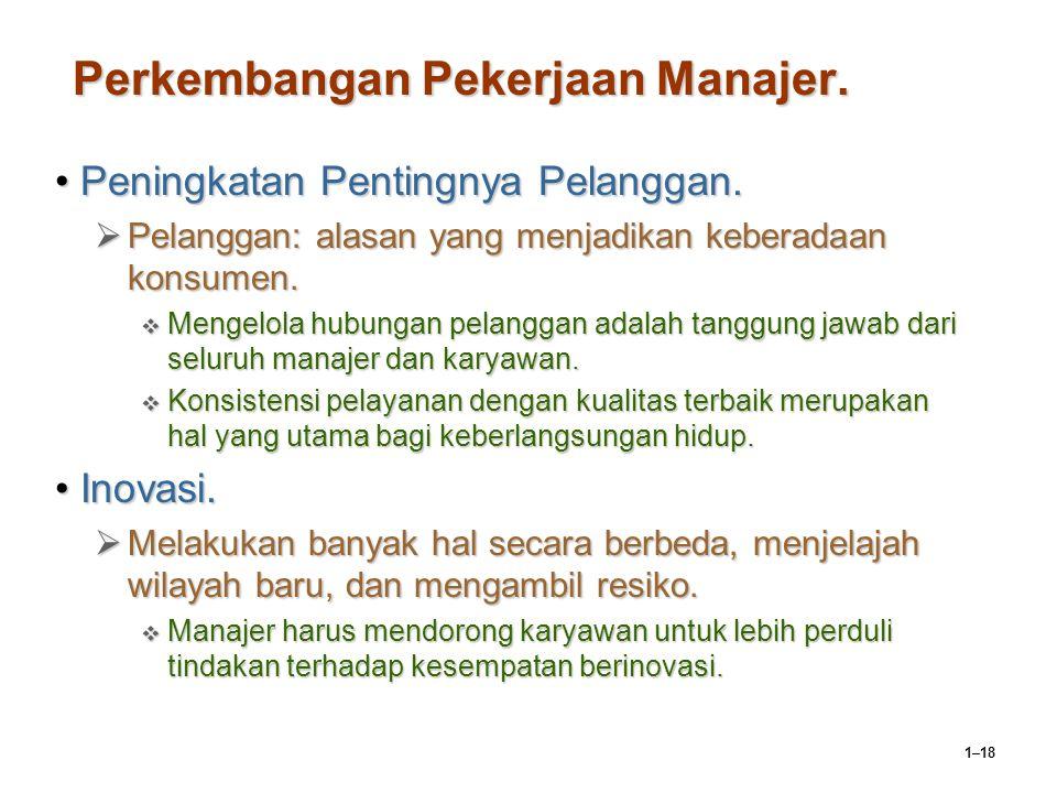 Perkembangan Pekerjaan Manajer.