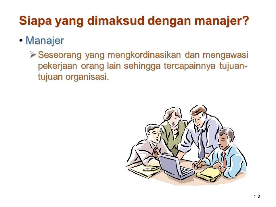 Siapa yang dimaksud dengan manajer