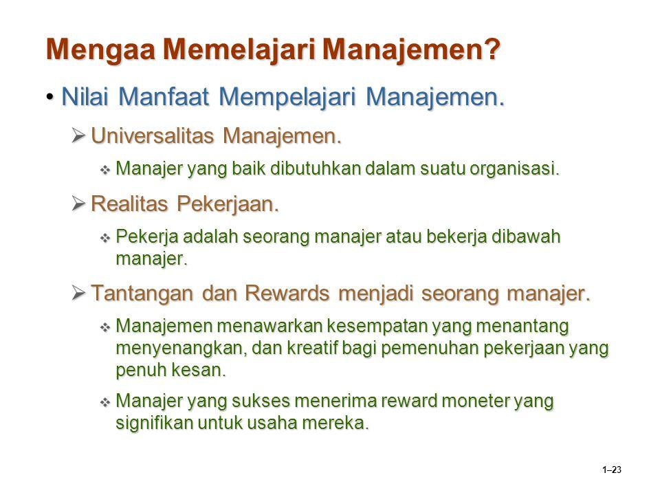 Mengaa Memelajari Manajemen