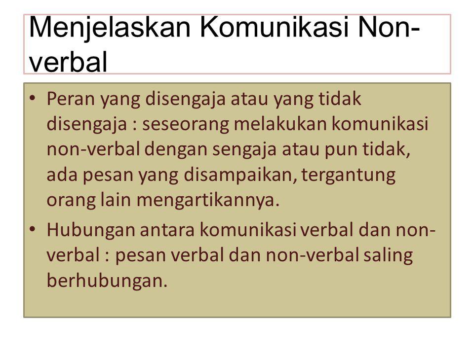 Menjelaskan Komunikasi Non-verbal