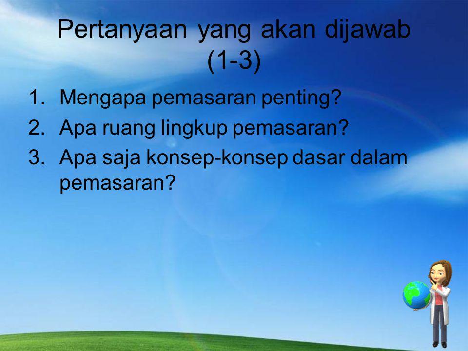 Pertanyaan yang akan dijawab (1-3)