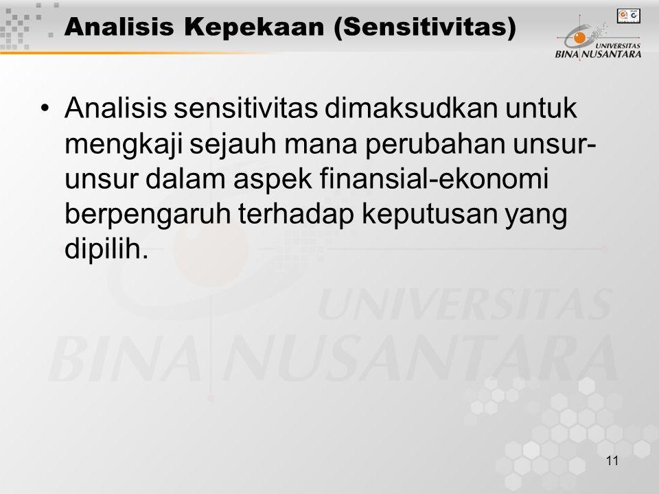 Analisis Kepekaan (Sensitivitas)