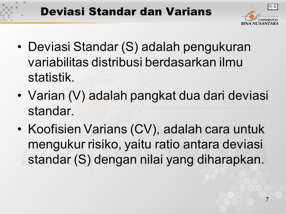 Deviasi Standar dan Varians