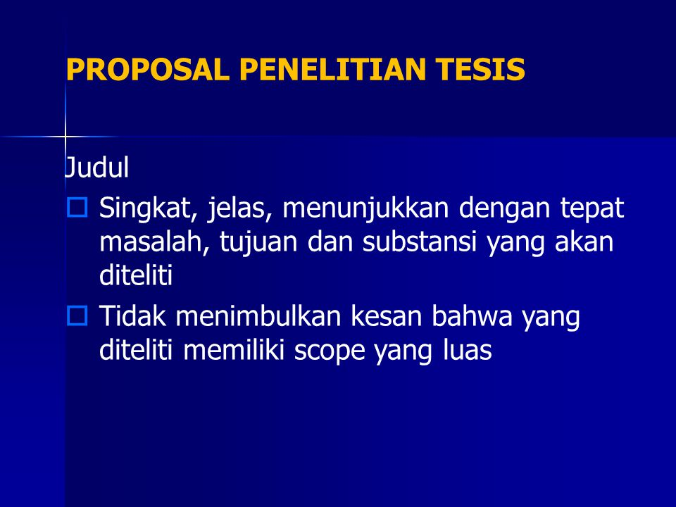 PROPOSAL PENELITIAN TESIS