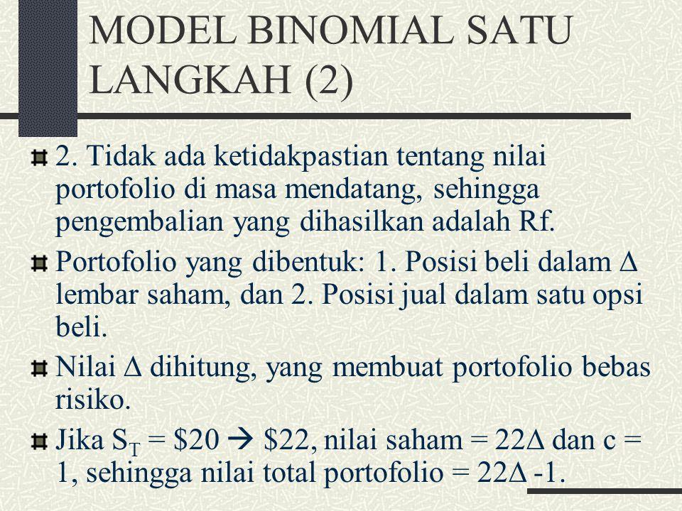 MODEL BINOMIAL SATU LANGKAH (2)