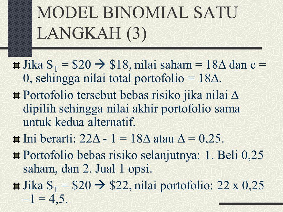MODEL BINOMIAL SATU LANGKAH (3)