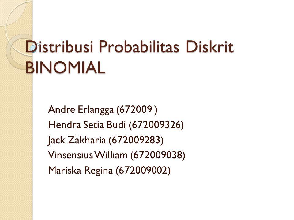 Distribusi Probabilitas Diskrit BINOMIAL