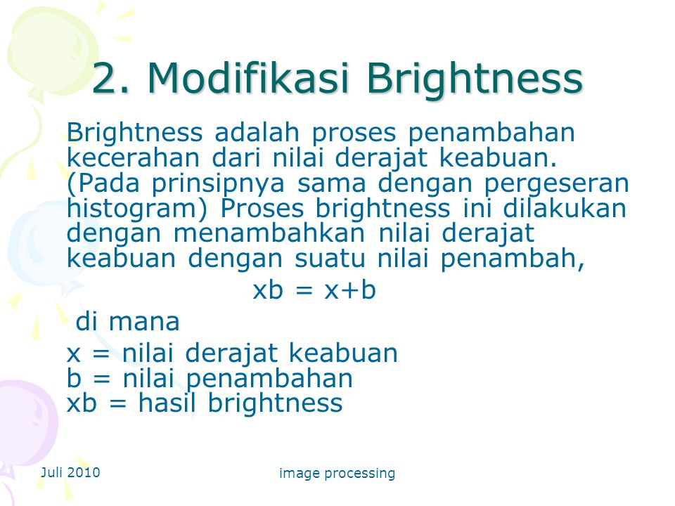 2. Modifikasi Brightness
