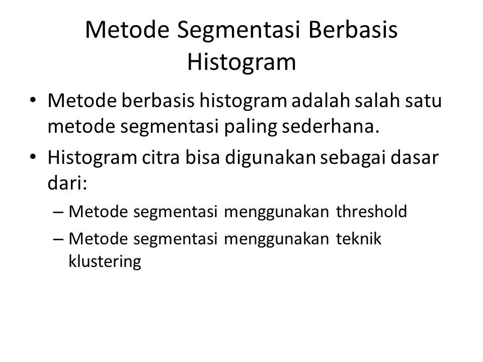 Metode Segmentasi Berbasis Histogram
