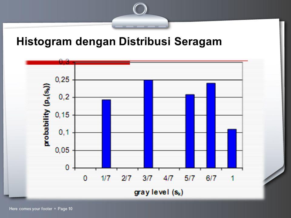 Histogram dengan Distribusi Seragam