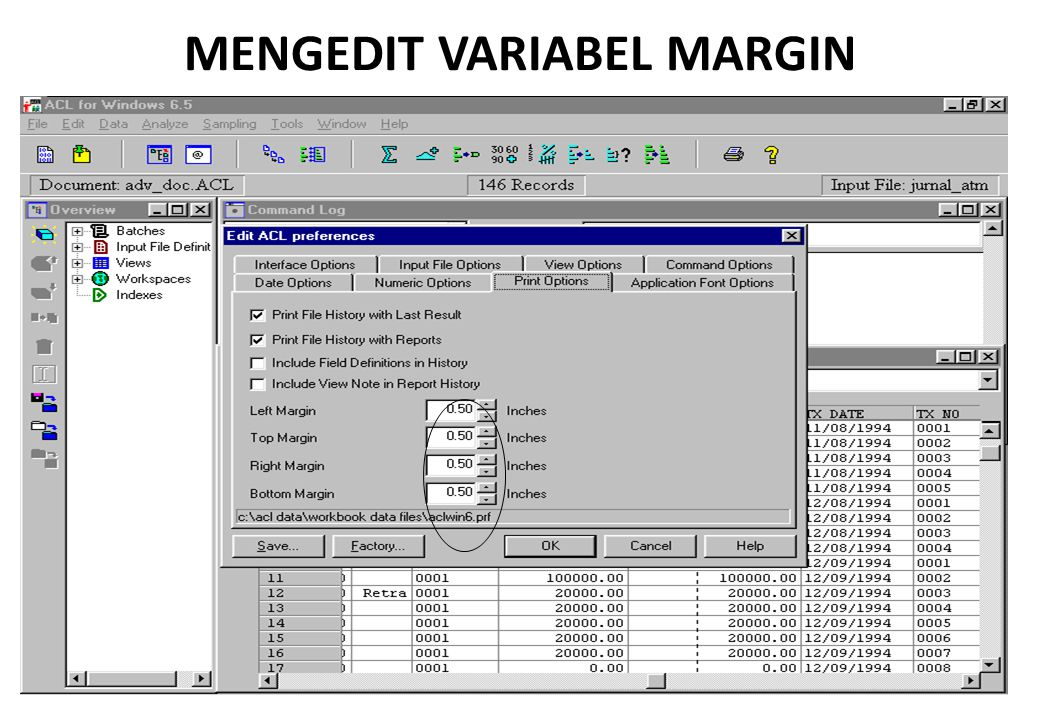 MENGEDIT VARIABEL MARGIN