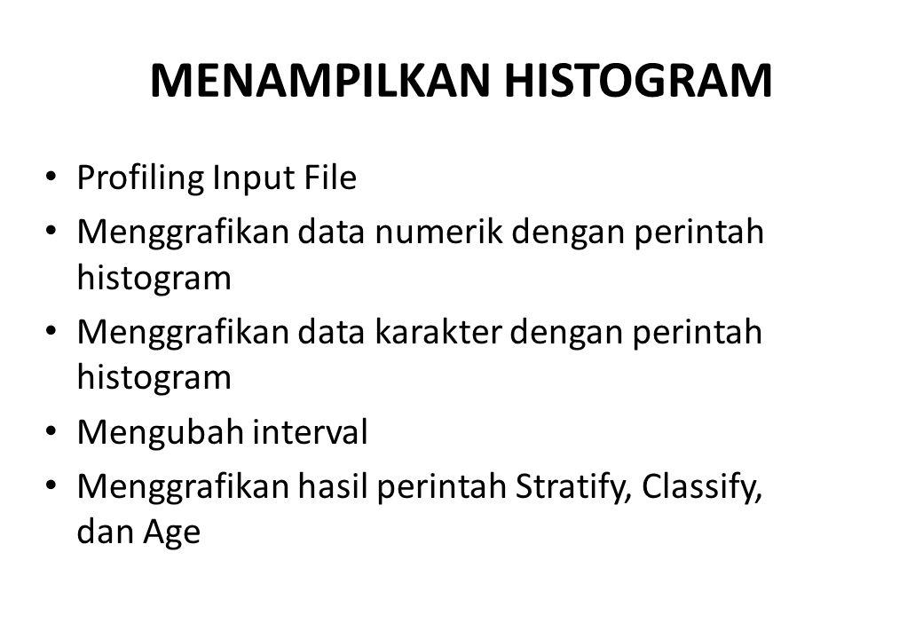 MENAMPILKAN HISTOGRAM