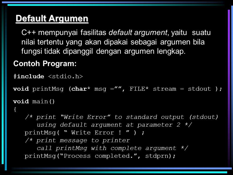 Default Argumen