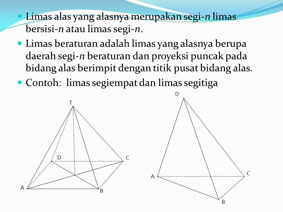Contoh: limas segiempat dan limas segitiga