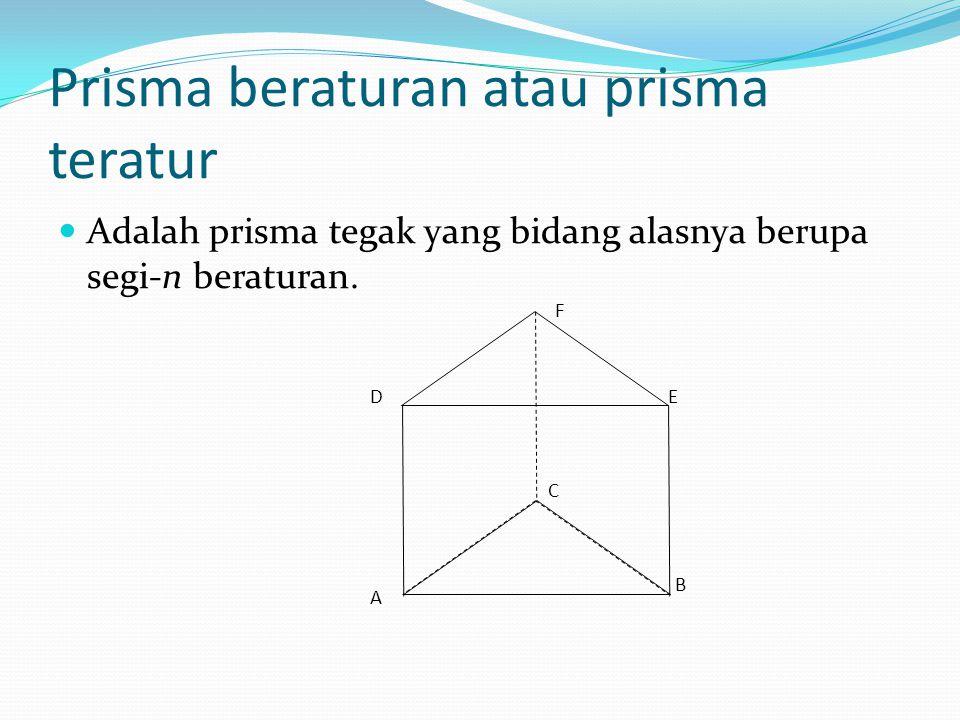 Prisma beraturan atau prisma teratur