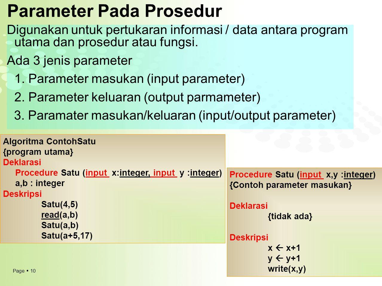 Parameter Pada Prosedur