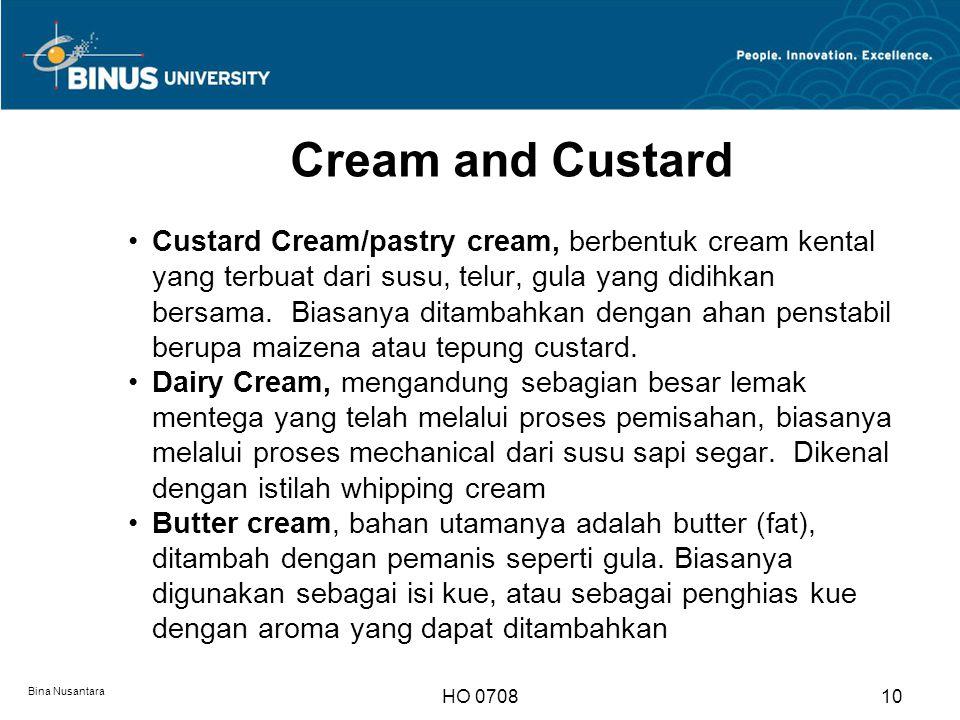 Cream and Custard
