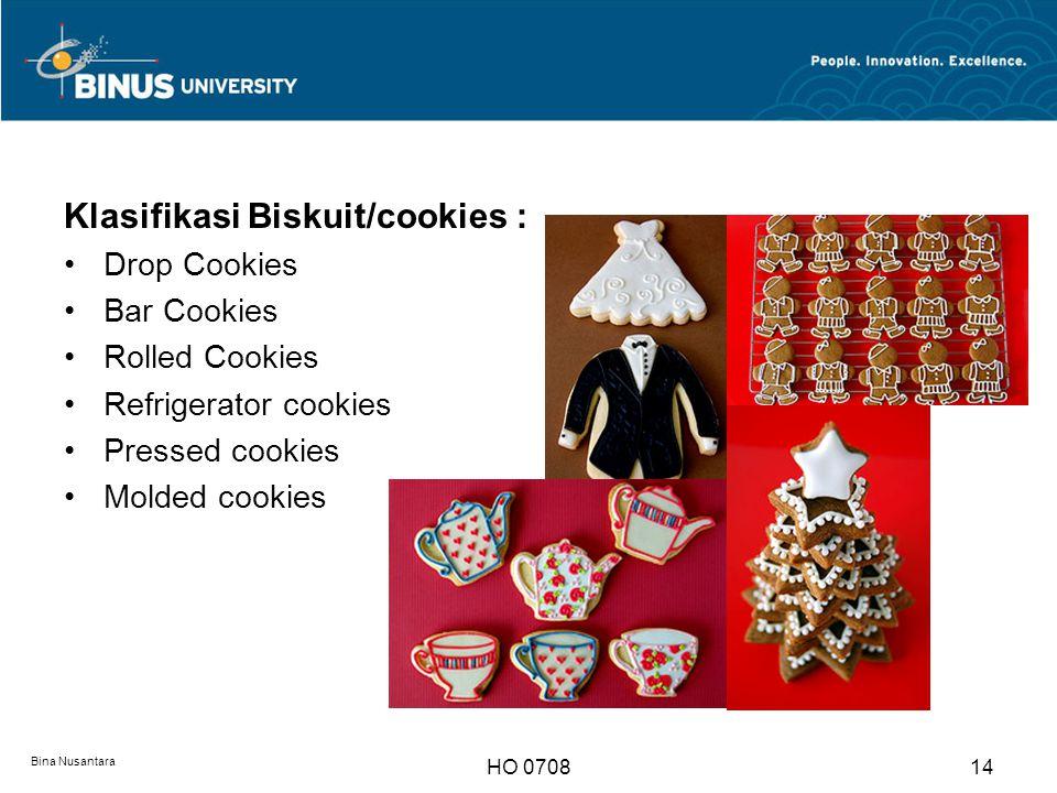 Klasifikasi Biskuit/cookies :