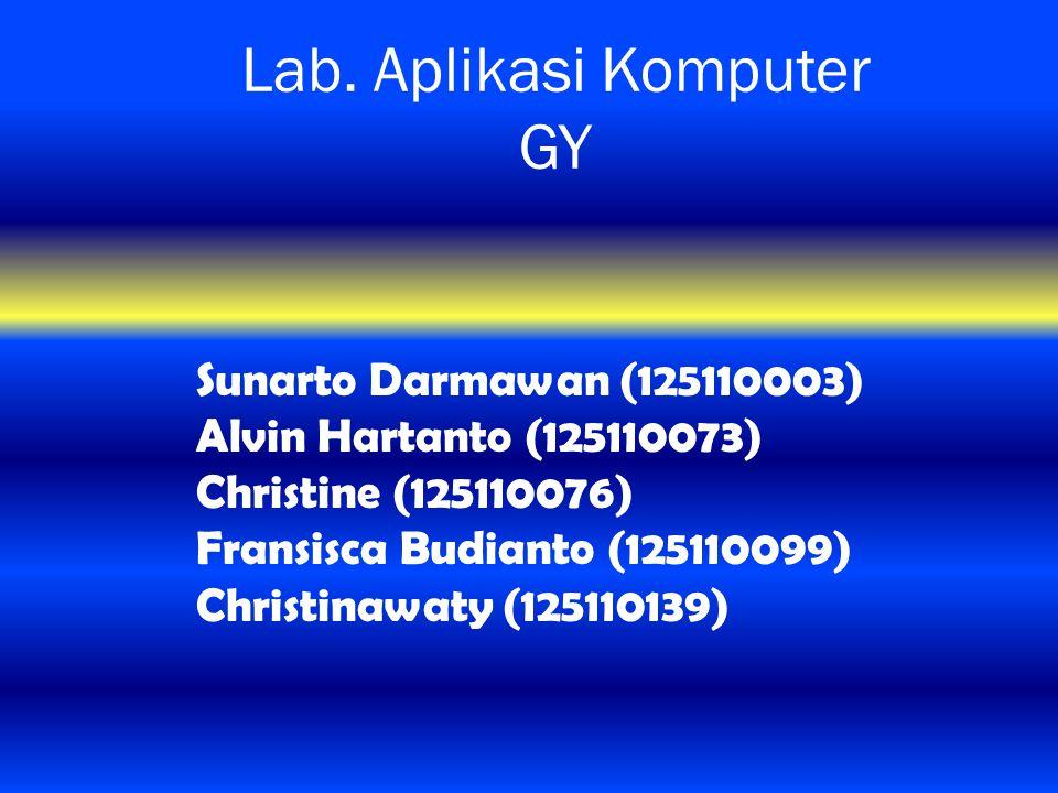 Lab. Aplikasi Komputer GY