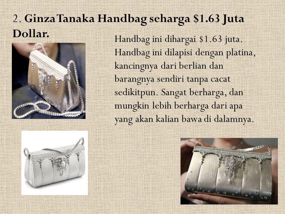 2. Ginza Tanaka Handbag seharga $1.63 Juta Dollar.