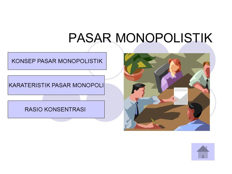 PASAR MONOPOLISTIK KONSEP PASAR MONOPOLISTIK