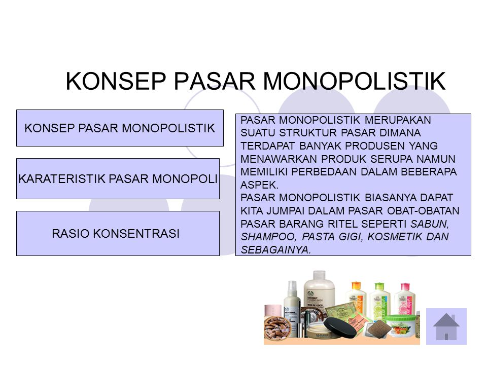 KONSEP PASAR MONOPOLISTIK
