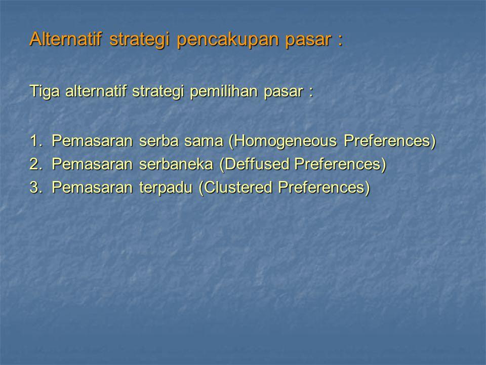 Alternatif strategi pencakupan pasar :