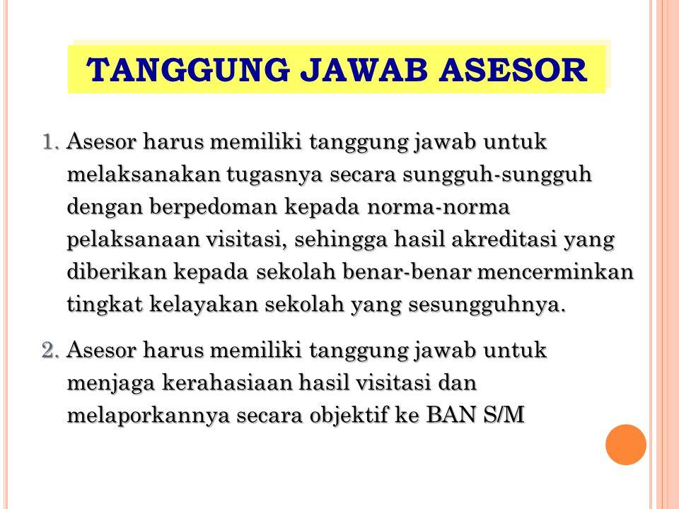 TANGGUNG JAWAB ASESOR