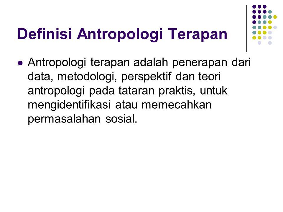Definisi Antropologi Terapan