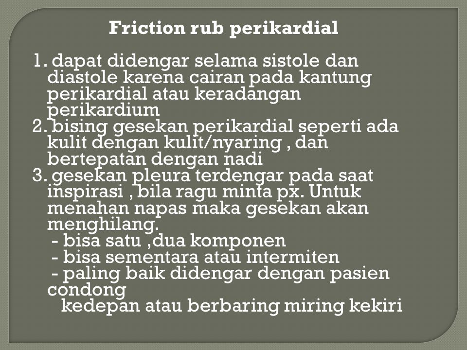 Friction rub perikardial 1
