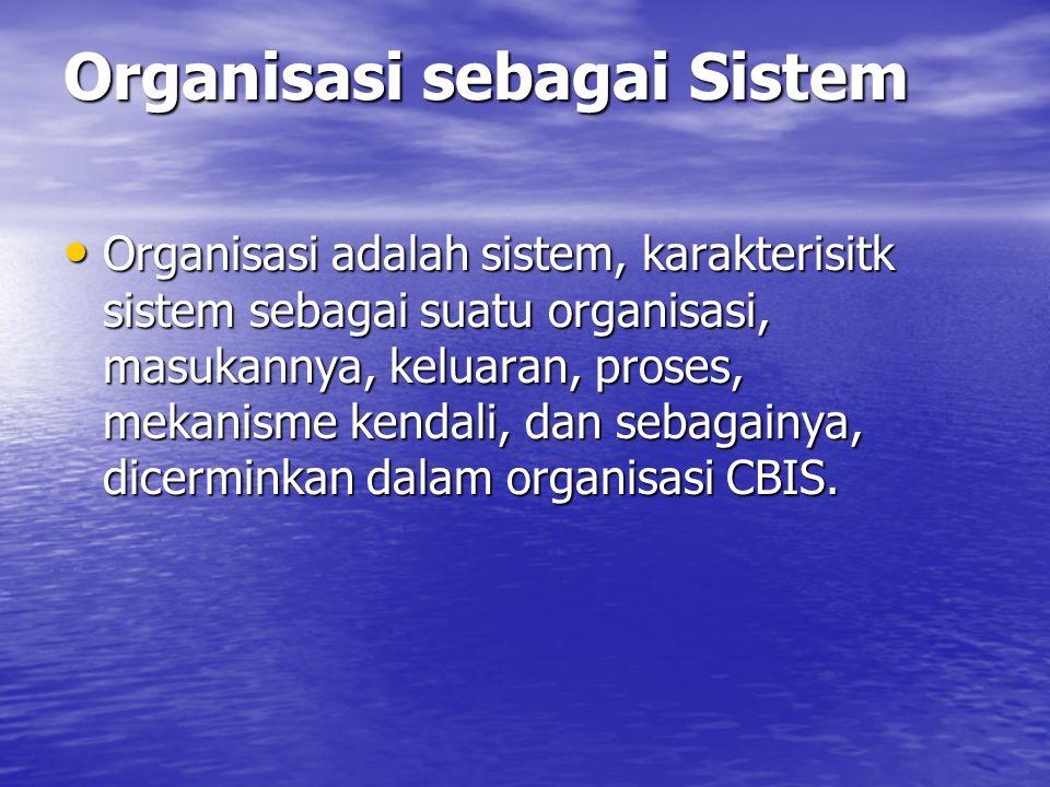 Organisasi sebagai Sistem