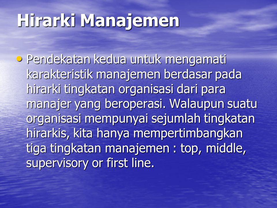 Hirarki Manajemen