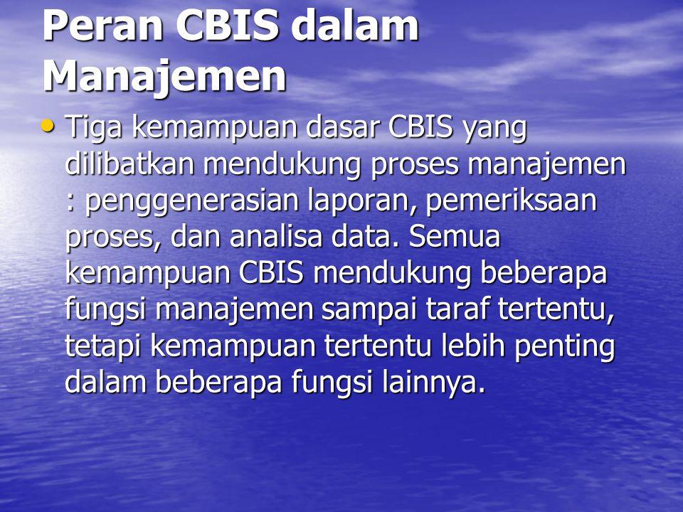Peran CBIS dalam Manajemen