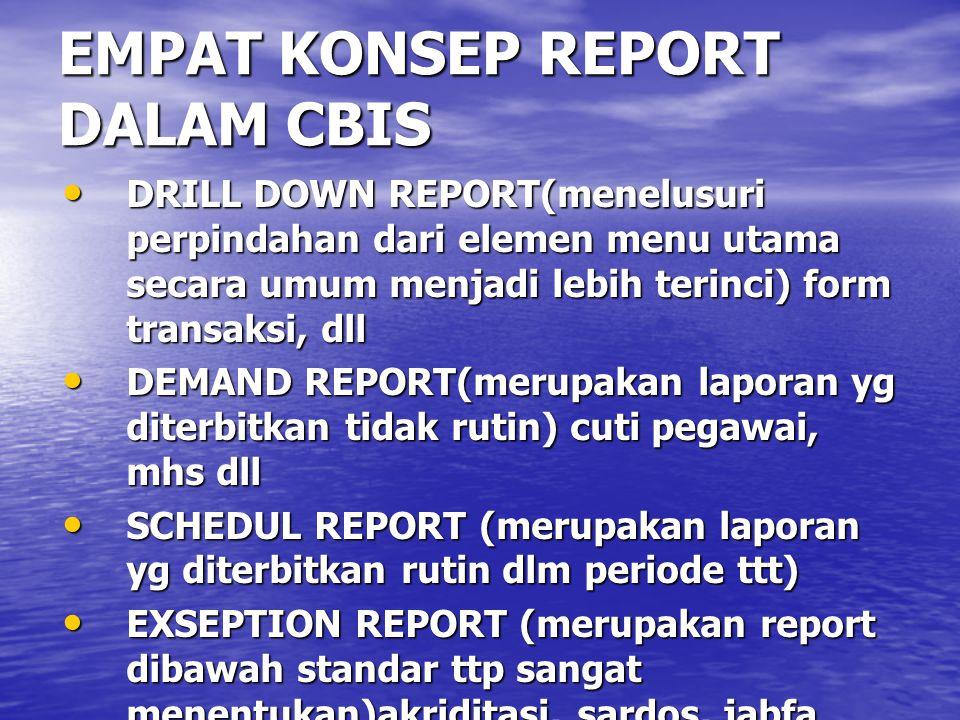 EMPAT KONSEP REPORT DALAM CBIS