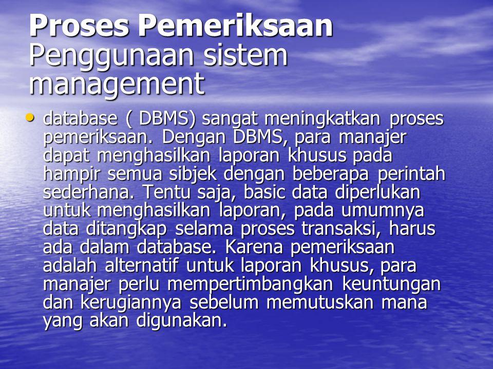 Proses Pemeriksaan Penggunaan sistem management