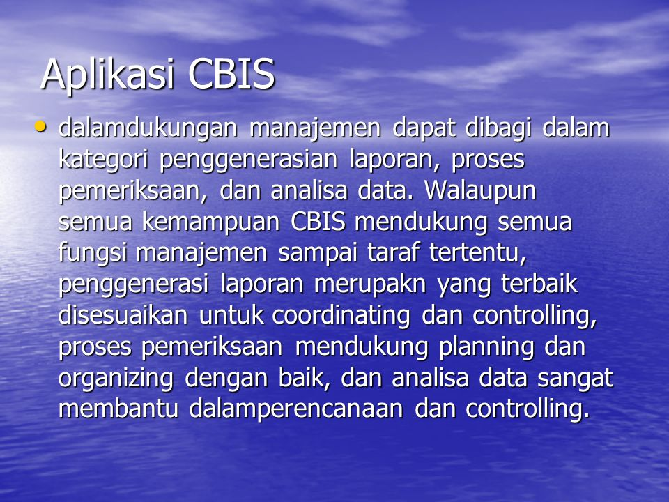 Aplikasi CBIS