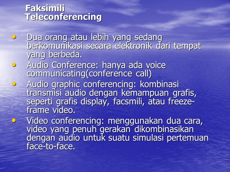 Faksimili Teleconferencing