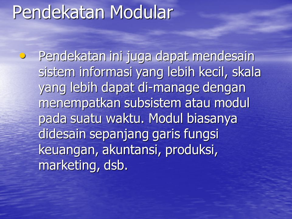 Pendekatan Modular