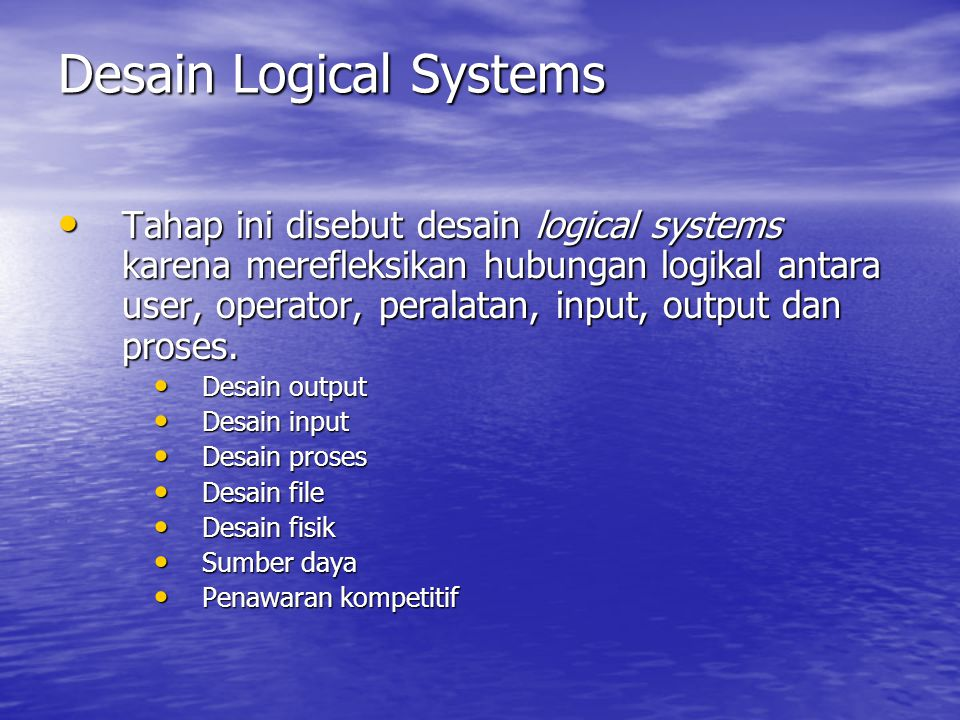 Desain Logical Systems