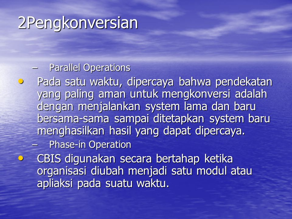 2Pengkonversian Parallel Operations.