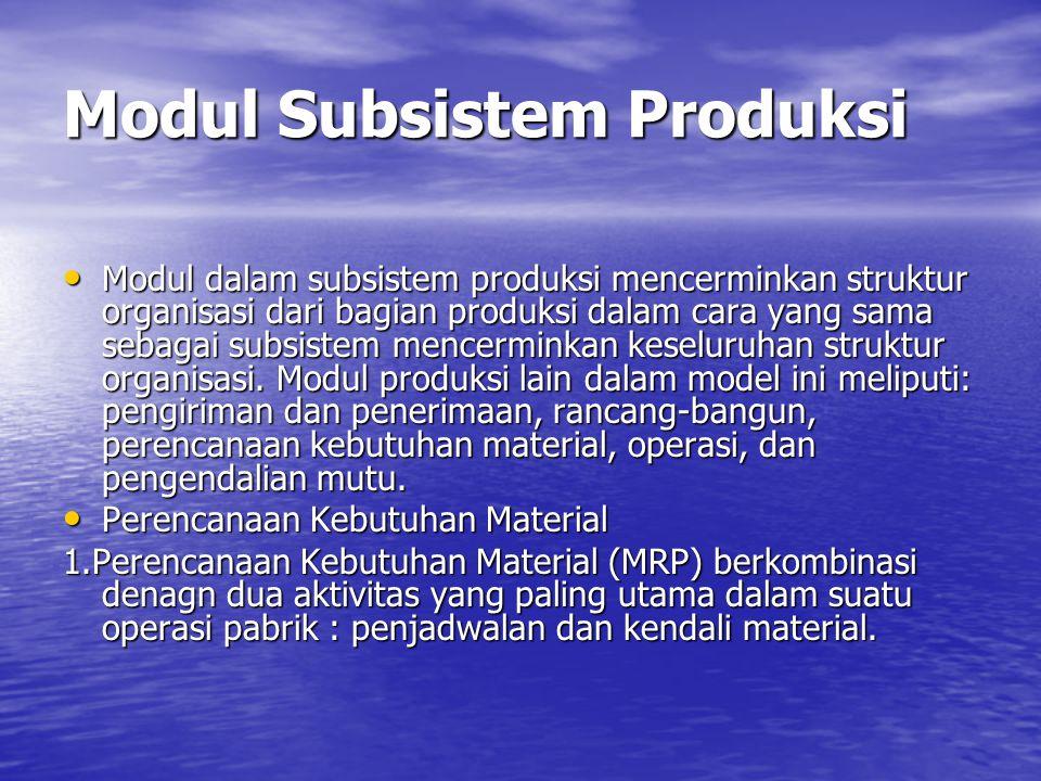 Modul Subsistem Produksi