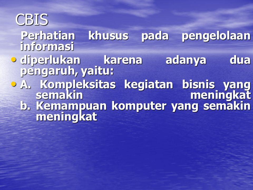 CBIS Perhatian khusus pada pengelolaan informasi